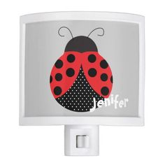 Cute  customized cartoon ladybug Night Light