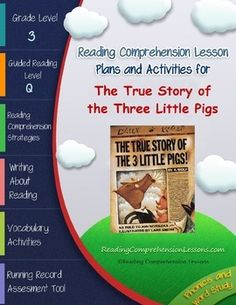 The True Story of the Three Little Pigs Lesson Plans & Activities Package (CCSS) Vocabulary Activities, Classroom Activities, Classroom Ideas, Reading Tutoring, Traditional Tales, Reading Comprehension Strategies, Literacy Programs, Teaching Language Arts, Three Little Pigs