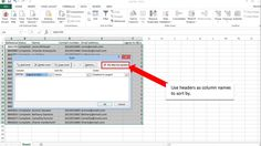 How to sort in Microsoft Excel
