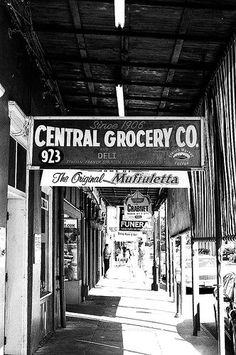 Central Grocery, New Orleans -- my grandparents used to shop here in the late 1950s!