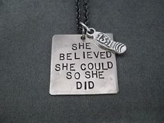She Believed She Could So She Did with Sterling by TheRunHome, $31.00