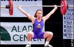 Tara Nott Cunningham - Olympic weightlifter, the only athlete to have trained for three different sports in the United States Olympic Training Centers (gymnastics, soccer, weightlifting) and the first US weightlifter to win Olympic gold since 1960.  She won after the person who placed ahead of her (Izabela Dragneva) tested positive for furosemide.