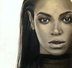 Beyonce Sasha Fierce  Drawing by Karen Nolan