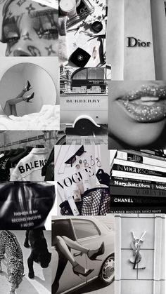 b&w fashion aesthetic - collage wallpaper