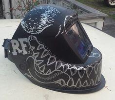Rat fink hot rod Welding Helmet. Gotta paint my welding helmet like this