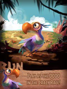 Risultati immagini per dodo bird running