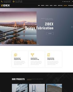 Zidex - Industrial & Factory WordPress Theme - ModelTheme Glass House, Sliders, Wordpress Theme, Industrial, House Of Glass, Industrial Music, Conservatory, Romper