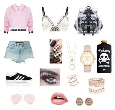 """""""#64"""" by claratiscornia on Polyvore featuring moda, Local Heroes, Loveday London, T By Alexander Wang, adidas, Kate Spade, Avenue, Accessorize y Ron Hami"""