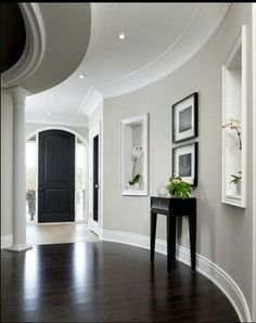 Entry Revere Pewter walls - warm neutral