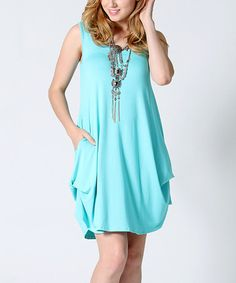 Look what I found on #zulily! Aqua Convertible Draping Side-Pocket Shift Dress #zulilyfinds