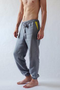 Natural mens linen pants Summer pants Linen pants Mens trousers Pants for men Gift for him Basic linen pants Mens beach pants Clothes Mens Beach Pants, Linen Beach Pants, Men Beach, Linen Trousers, Trouser Pants, Grey Pants, Yoga Pants, Sweat Pants, Mode Masculine