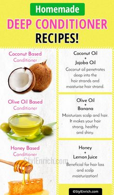 Homemade Deep Conditioner Recipes Step By Step For Shiny Hair! Learn Homemade Deep Conditioner Recipes Step By Step For Shiny Hair!Learn Homemade Deep Conditioner Recipes Step By Step For Shiny Hair! Homemade Deep Conditioner, Deep Conditioner For Natural Hair, Homemade Conditioner, Body Peeling, Diy Hair Mask, Hair Mask For Damaged Hair, Hair Masks, Dry Curly Hair, Natural Hair Mask