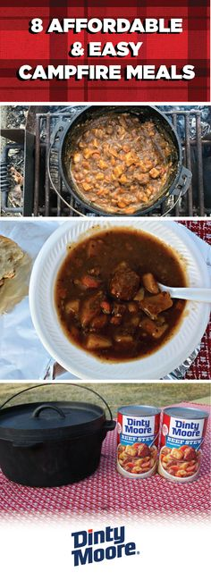 Packing everything you need for a family camping trip can seem overwhelming. But thanks to DINTY MOORE® Beef Stew and these 8 Affordable and Easy Campfire Meals, a tasty and affordable dinner isn't so Easy Campfire Meals, Camping Snacks, Campfire Food, Camping Activities, Camping Cooking, Camping Checklist, Camping Tips, Backpacking Meals, Healthy Meals