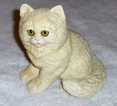 Vtg White Persian Cat Figurine Kathy Wise Enesco Purebred Pets Ceramic Kitty '84