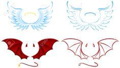 8511404-Angel-and-Devil-wings-illustration-Stock-Vector-cartoon.jpg 1.300×739 Pixel