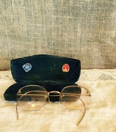 Vintage Eyeglasses with Case Optical by SweetPeaPastiche on Etsy
