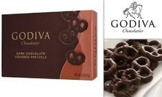 Godiva Chocolatier Dark Chocolate Covered Pretzels 2.5 Oz Box (Pack of 3): Amazon.com: Grocery & Gourmet Food