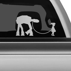 Star Wars AT-AT Pet Car Decal - The Decal Guru