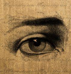 Eye illustration digital image for transfer