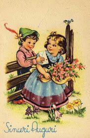 Miss Jane: Easter & Spring Vintage Postcards Vintage Birthday, Vintage Easter, Picture Postcards, Vintage Postcards, Vintage Greeting Cards, Vintage Ephemera, Vintage Pictures, Vintage Images, Fete Pascal