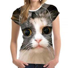 bbee86ae8ed65 Galaxy Cat Prints Women Summer T Shirt Elastic Woman Tops Fashion T-shirt  For Girls Female Tees Brand Clothes