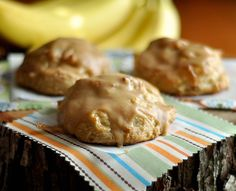Roasted Banana-Ricotta Scones with Peanut Butter Glaze - Mississippi Kitchen - Roasting bananas to intensify their flavor sounds smart!
