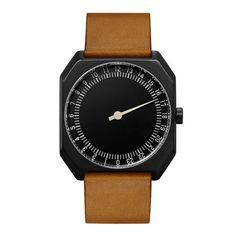 Slow Jo 19-レザーxブラウンxブラックフェイス|ゆとりを生み出すワンランク上の腕時計 by Slow watches
