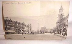 Monument Square (panorama); postmarked 1909.