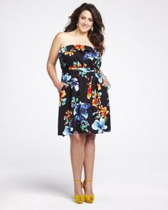 tropical print bustier dress | Shop Online at Addition Elle Addition Elle, plus size, fashion, trends, summer essential