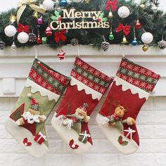 Christmas decoration Christmas, Santa Claus, Christmas stockings boots Christmas stockings socks gift bags