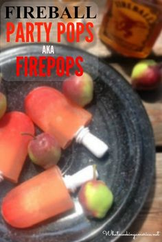 Fireball Cider Cocktail Popsicles Recipe - Firepops | whatscookingamerica.net | #fireball #whisky #cocktail #popsicle