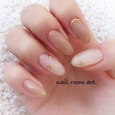 Pretty Nail Art, Cute Nail Art, Cute Nails, Minimalist Nails, Colorful Nail Designs, Nail Art Designs, Acrylic Nail Designs, Asian Nails, Korean Nail Art