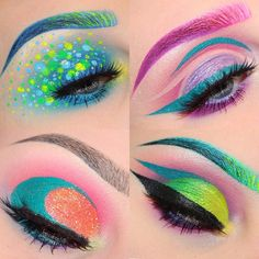 """queenofblending: """"  BeccaBoo I love youu  it was hard to pick a fav, but that bottom left is ridiculous. @beccaboo318 you're amazing, I love following you, thank you for your art!! #makeup """""""