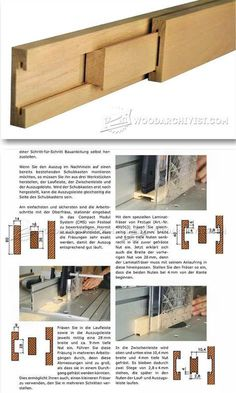 Making Wooden Drawer Slides - Drawer Construction and Techniques | WoodArchivist.com #WoodworkingTips