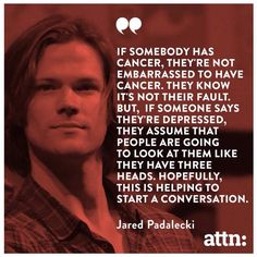 Jared Padalecki on the depression stigma #AlwaysKeepFighting