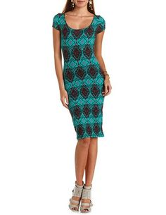 Crisscross Back Cotton Midi Dress: Charlotte Russe