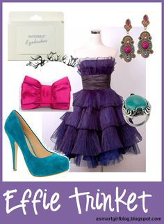 Effie Trinket inspired outfit from The Hunger Games! ---May the odds be ever in your favor!
