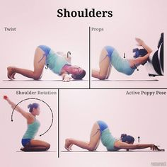@Regrann from @pinkchampagne13 - A number of you asked for some warm up or exercises for increased shoulder mobility so here are some of my favourites that I never fail to do during home practices. . Bottom left: - ROTATION Grab a strap / towel with both hands stretched out in front of you. The distance between palms is dependent on individual's flexibility; further = easier, closer = harder. The key point is to NOT bend at the elbows as you move both arms forward and backwards shown by…
