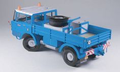This vehicle paper model is a Tatra 111 Truck, a truck produced in Czechoslovakia by the Tatra company, the papercraft is created by PK Graphica, and the s Cardboard Toys, Paper Toys, Paper Crafts, 4x4 Trucks, Tow Truck, Paper Car, Paper Models, Projects For Kids, Scale Models