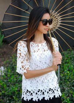 Annaliese White Lace Blouse