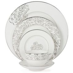 Monique Lhuillier Waterford 'Sunday Rose' China Place Setting