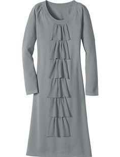 grey waterfall dress