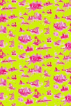 Timorous Beasties Wallcoverings - London Toile Brights - these guys so clever - always loved a toile but this is my favourite!