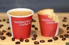 INFLUENCIA / Plante ton gobelet et tais-toi ! / #KFC annonçait de son côté la prochaine commercialisation au Royaume-Uni de tasses à café comestibles, baptisées Scoff-ee Cup. Bientôt disponible dans les restaurants de la chaîne, la tasse a été élaborée avec un expert autoproclamé de la nourriture expérimentale, Robin Collective. Formée d'un gâteau enroulé de papier de sucre et entouré de chocolat blanc, la tasse de KFC répond à une demande du consommateur. « Ce type de packaging comestible…