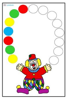 Circus Activities, Circus Crafts, Creative Activities For Kids, Preschool Learning Activities, Color Activities, Math For Kids, Preschool Worksheets, Toddler Activities, Preschool Activities