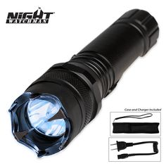 Night Watchman 2 Million Volt Police Stun Gun Flashlight | BUDK.com - Knives & Swords At The Lowest Prices!