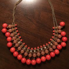 Beautiful red-orange necklace Pretty red orange necklace! Jewelry Necklaces