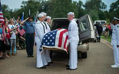 The Navy officer funeral who was killed in Chattoganna.  R. I. P.