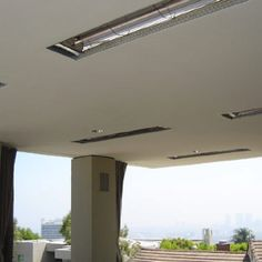 Flush Mounted Heaters In Patio Ceiling
