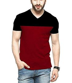 Veirdo Mens Cotton T-Shirt Black Maroon Casual T-Shirt Veirdo Mens Cotton T-Shirt Black Maroon Casual T-Shirt Veirdo Buy: Rs. (Visit the Bestsellers in Clothing & Accessories list for authoritative information on this products current rank. Outfits Casual, Mode Outfits, Casual T Shirts, Mens Polo T Shirts, Mens Cotton T Shirts, Slim Man, Stylish Men, Slim Fit Polo, Shirt Style